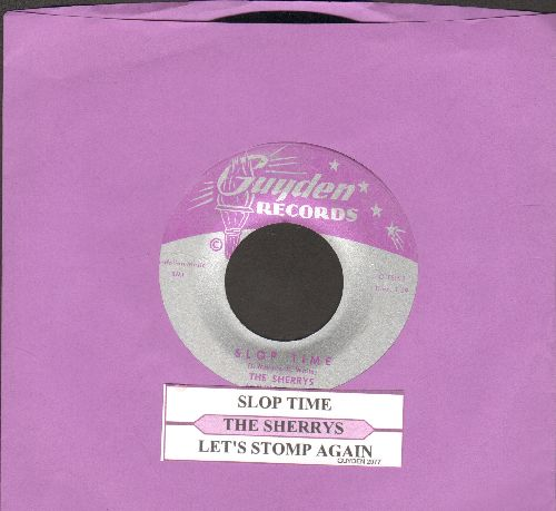Sherrys - Slop-Time/Let's Stomp Again - EX8/ - 45 rpm Records