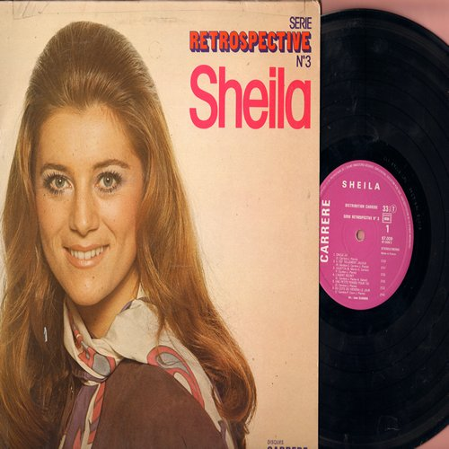 Sheila - Retrospective: Julietta, L'agent Secret, Reviens Je T'aime, Ma Vie A T'aimer (Vinyl STEREO LP record, French Pressing, sung in French) - NM9/VG7 - LP Records