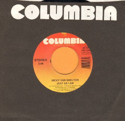 Van Shelton, Ricky - Just As I Am/Slam That Door (with Columbia company sleeve) - NM9/ - 45 rpm Records