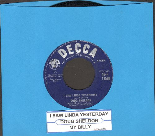 Sheldon, Doug - I Saw Linda Yesterday (British Pressing with juke box label) - EX8/ - 45 rpm Records