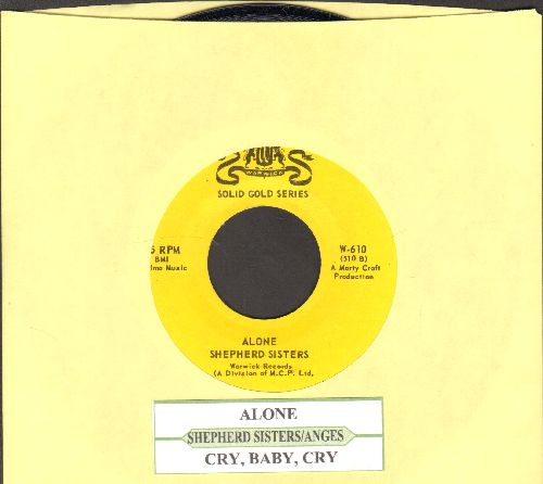 Shepherd Sisters - Alone/Cry, Baby, Cry (by The Angels on flip-side) (double-hit re-issue with juke box label) - NM9/ - 45 rpm Records