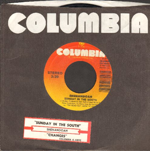 Shenandoah - Sunday In The South/Changes (with juke box label and Columbia company sleeve) - EX8/ - 45 rpm Records