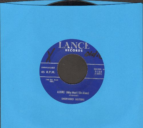 Shepherd Sisters - Alone (Why Must I Be Alone)/Congratulations To Someone   - NM9/ - 45 rpm Records