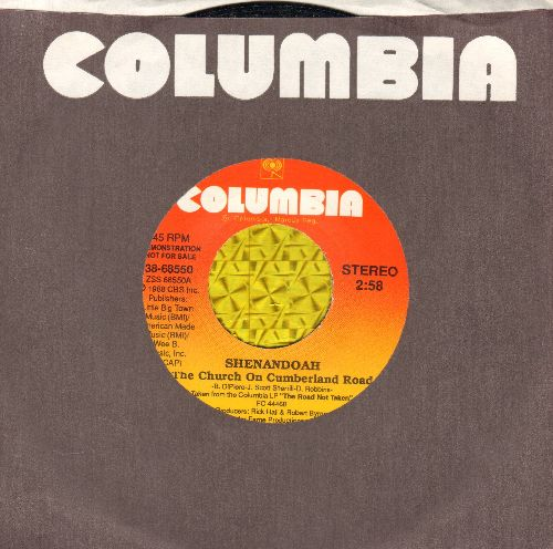 Shenandoah - The Church On Cumberland Road (RARE double-A-sided DJ advance pressing with Columbia company sleeve) - NM9/ - 45 rpm Records