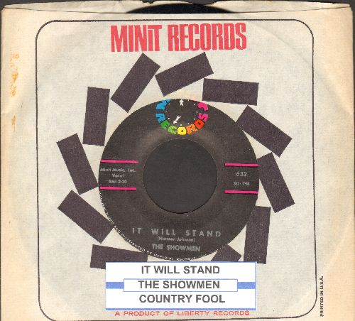 Showmen - It Will Stand/Country Fool (with juke box label and Minit company sleeve) - NM9/ - 45 rpm Records