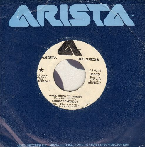 Showaddywaddy - Three Steps To Heaven (double-A-sided DJ advance pressing with Arista company sleeve) (sol) - EX8/ - 45 rpm Records