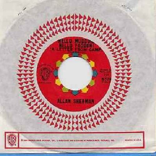 Sherman, Allan - Hello Mudduh, Hello Fadduh! (A Letter From Camp)/(Rag Mop) Rat Fink (with Warner Brothers company sleeve) - NM9/ - 45 rpm Records