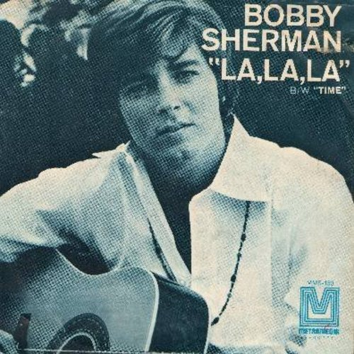 Sherman, Bobby - La La La (If I Had You)/Time (with picture sleeve) - NM9/VG7 - 45 rpm Records