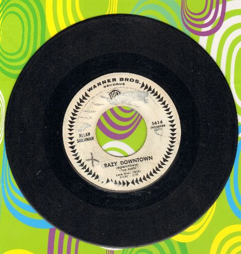 Sherman, Allan - Crazy Downtown/The Drop-Outs March (DJ advance pressing) - VG6/ - 45 rpm Records