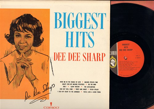 Sharp, Dee Dee - Biggest Hits: Mashed Potato Time, Gravy, Do The Bird, Ride!, Slow Twistin', The Loco-Motion, I Sold My Heart To The Junkman, You'll Lose A Good Thing, Splish Splash, Our Day Will Come (Vinyl MONO LP record, NICE condition!) - M10/NM9 - LP