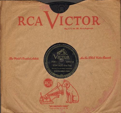 Shaw, Artie & His Orchestra - Star Dust/Back Bay Shuffle (10 inch 78 rpm record with RCA company sleeve) - VG6/ - 45 rpm Records