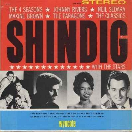 Four Seasons and others - Shindig With The Stars: Includes songs by Paragons, Classics, Maxine Brown and others - EX8/VG7 - LP Records