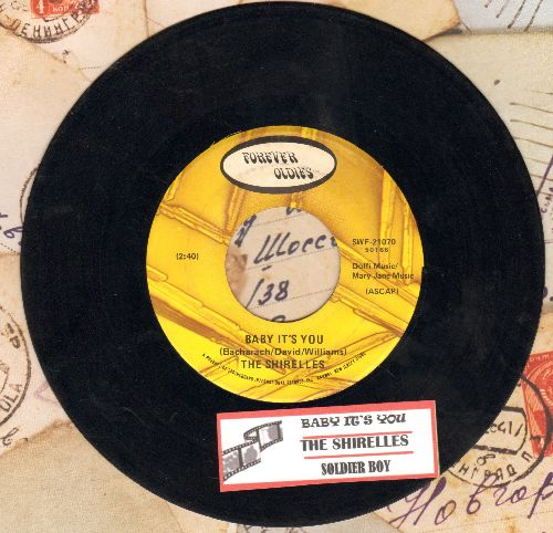 Shirelles - Baby It's You/Soldier Boy (double-hit re-issue with juke box label) - VG7/ - 45 rpm Records