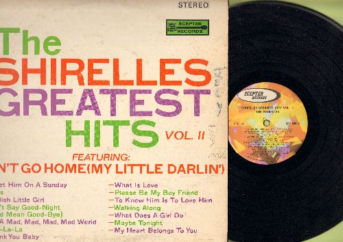 Shirelles - Greatest Hits Vol. 2: Don't Go Home Little Darlin', It's A Mad, Mad, Mad, mad World, What Is Love, What Does A Girl Do, Foolish Little Girl (Vinyl STEREO LP record) - EX8/VG6 - LP Records