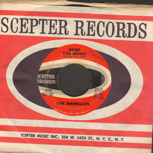 Shirelles - Stop The Music/It's Love That Really Counts (with Scepter company sleeve) - EX8/ - 45 rpm Records