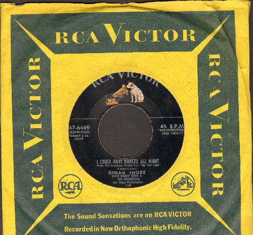 Shore, Dinah - I Could Have Danced All Night/What A Heavenly Night  (with vintage RCA company sleeve, sol) - EX8/ - 45 rpm Records