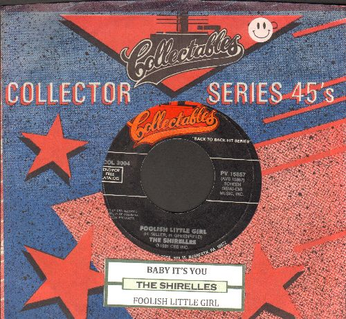 Shirelles - Baby It's You/Foolish Little Girl (double-hit re-issue with company sleeve and juke box label) - EX8/ - 45 rpm Records