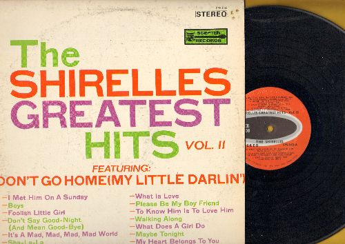 Shirelles - Greatest Hits Vol. 2: Don't Go Home Little Darlin', It's A Mad, Mad, Mad, mad World, What Is Love, What Does A Girl Do, Foolish Little Girl (Vinyl STEREO LP record, red label early pressing) - NM9/VG7 - LP Records