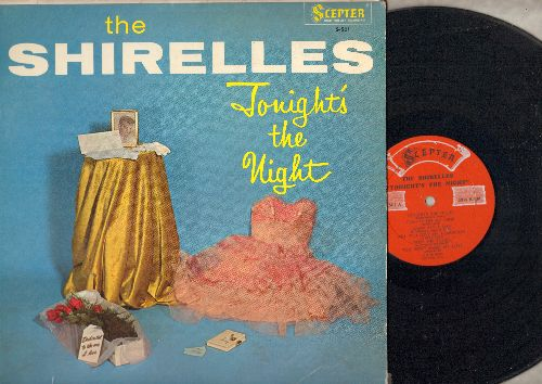 Shirelles - Tonight's The Night: Will You Love Me Tomorrow, Dedicated To The One I Love, Oh What A Waste Of Love (vinyl MONO LP record, tape on top/bottom of cover) - EX8/VG7 - LP Records
