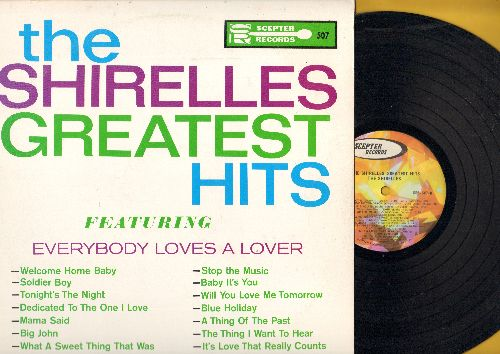 Shirelles - Greatest Hits: Everybody Loves A Lover, Soldier Boy, Tonight's The Night, Mama Said, Dedicated To The One I Love, Baby It's You, Will You Love Me Tomorrow (Vinyl STEREO LP record, 1970s pressing) - NM9/NM9 - LP Records