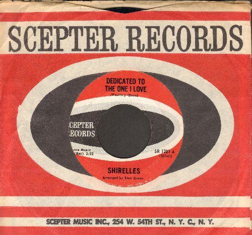 Shirelles - Dedicated To The One I Love/Look A Here Baby (MINT condition with vintage Scepter company sleeve) - M10/ - 45 rpm Records