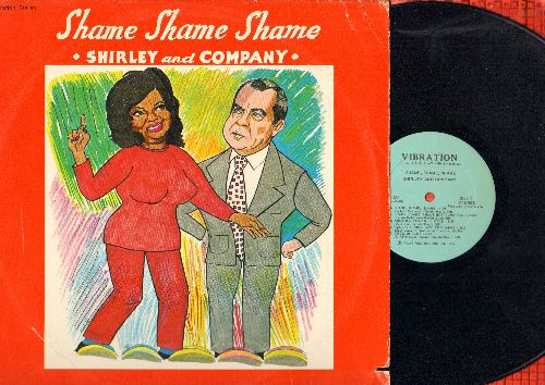 Shirley & Company - Shame, Shame, Shame: Disco Shirley, Another Tear Will Fall, Cry Cry Cry, Keep On Rolling On (vinyl STEREO LP record) - NM9/VG7 - LP Records