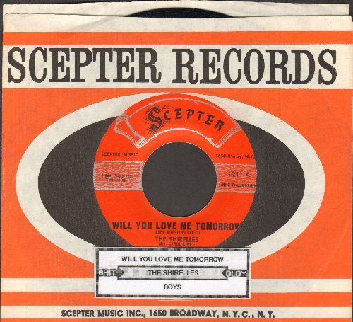 Shirelles - Will You Love Me Tomorrow/Boys (script logo early pressing) - EX8/ - 45 rpm Records