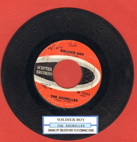 Shirelles - Soldier Boy/My Soldier Boy Is Coming Home (RARE alternate flip-side with juke box label) - VG7/ - 45 rpm Records