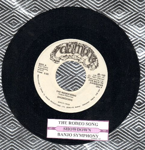 Showdown (Garry Lee) - The Rodeo Song (You Pi*s Me Off!)/Banjo Symphony (MINT condition DJ advance copy with juke box label)) - NM9/ - 45 rpm Records