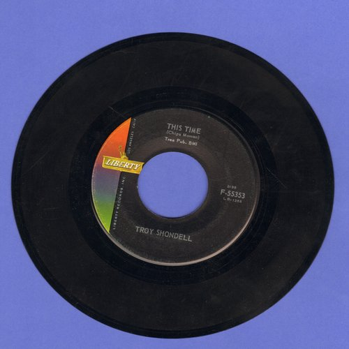 Shondell, Troy - This Time/Girl After Girl - EX8/ - 45 rpm Records