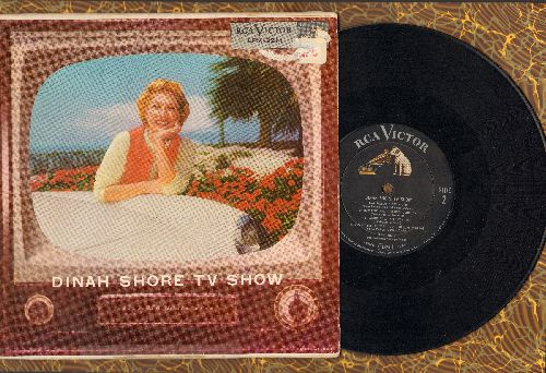 Shore, Dinah - Dinah Shore TV Show: I've Got A Crush On You, Little Girl Blue, A Fellow Needs A Girl + 5 other songs (Vinyl 10 inch LP record with picture cover) - VG7/VG7 - LP Records
