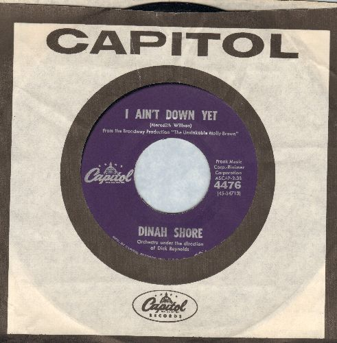 Shore, Dinah - I Ain't Done Yet/I Gotta Love You (purple label early pressing with vintage Capitol company sleeve) - NM9/ - 45 rpm Records