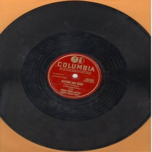 Shore, Dinah - Buttons And Bows/Daddy-O (10 inch 78 rpm record) - VG7/ - 78 rpm