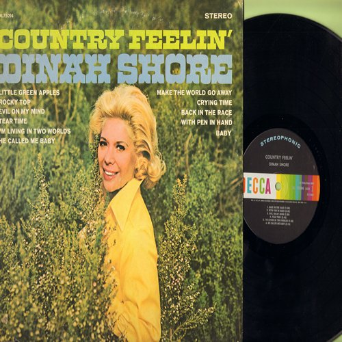 Shoe, Dinah - Country Feelin': Little Green Apples, Rocky Top, Crying Time, With Pen In Hand (Vinyl STEREO LP record) - M10/EX8 - LP Records