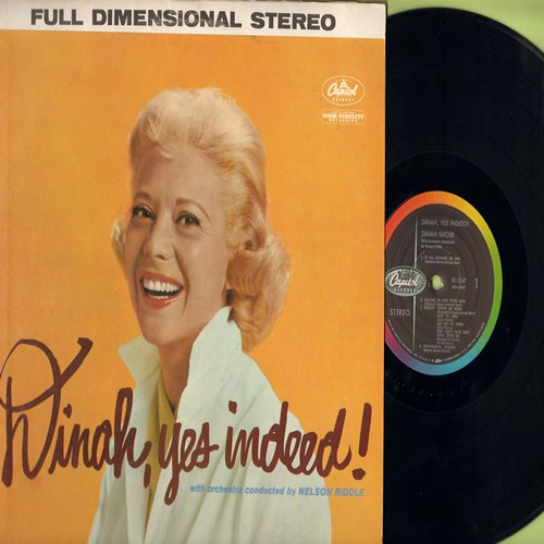 Shore, Dinah - Dinah, yes indeed!: Where Or When, The One I Love, Sentimental Journey, They Can't Take That Away From Me (Vinyl STEREO LP record) - NM9/VG7 - LP Records