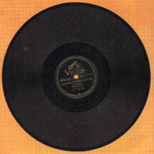 Shore, Dinah & Buddy Clark - Everybody Knew But Me/Pass That Peace Pipe (10 inch 78 rpm record) - VG7/ - 78 rpm Records