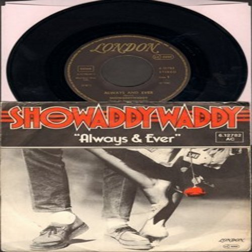 Showaddywaddy - Always And Ever (70's Euro-Pop Hit sung in English with brief German to the tune of Santa Lucia)/Cool Cool cat (German Pressing with picture sleeve) - NM9/EX8 - 45 rpm Records