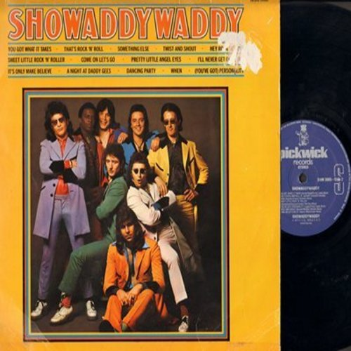 Showaddywaddy - Showaddywaddy: You Got What It Takes, Twist And Shout, When, Pretty Little Angel Eyes, It's Only Make Believe (British ShaNaNa-like Rock-A-Billy Revival - vinyl STEREO LP record, German Pressing) - EX8/EX8 - LP Records