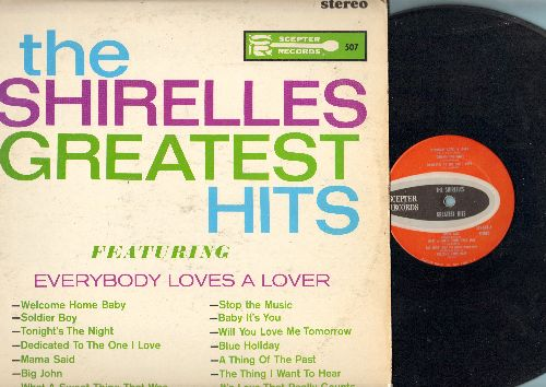 Shirelles - Greatest Hits: Everybody Loves A Lover, Soldier Boy, Tonight's The Night, Mama Said, Dedicated To The One I Love, Baby It's You, Will You Love Me Tomorrow (Vinyl STEREO LP record) - VG7/VG6 - LP Records