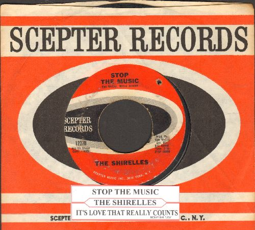 Shirelles - Stop The Music/It's Love That Really Counts (with juke box label) (bb) - VG7/ - 45 rpm Records