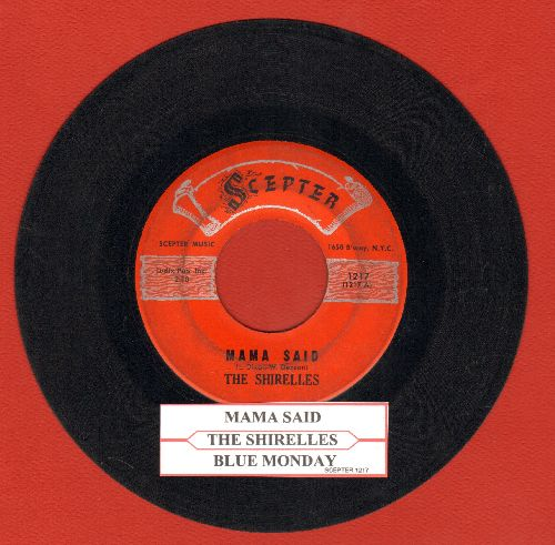 Shirelles - Mama Said/Blue Holiday (with juke box label) - VG7/ - 45 rpm Records
