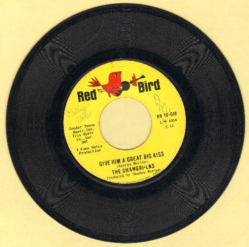 Shangri-Las - Give Him A Great Big Kiss/Twist And Shout (FANTASTIC double-hitter!) (minor wol) - EX8/ - 45 rpm Records
