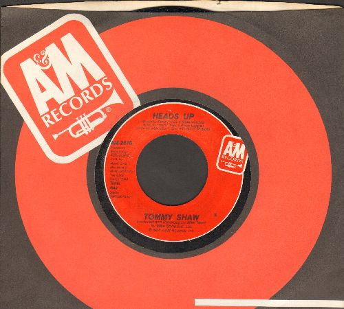 Shaw, Tommy - Girls With Guns/Heads Up (with A&M company sleeve) - NM9/ - 45 rpm Records