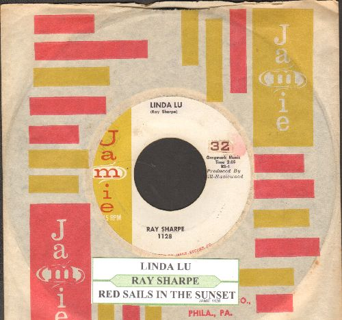 Sharpe, Ray - Linda Lou/Red Sails In The Sunset (with juke box label and vintage Jamie company sleeve) - EX8/ - 45 rpm Records