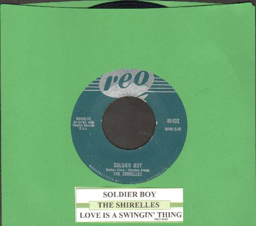 Shirelles - Soldier Boy/Love Is A Swingin' Thing (re-issue with juke box label) - EX8/ - 45 rpm Records