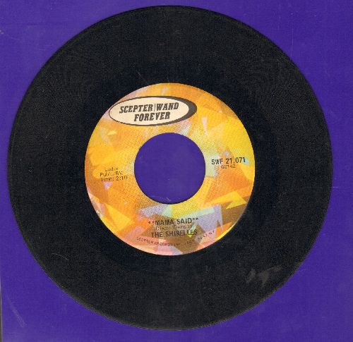 Shirelles - Mama Said/Foolish Little Girl (double-hit re-issue) - VG7/ - 45 rpm Records