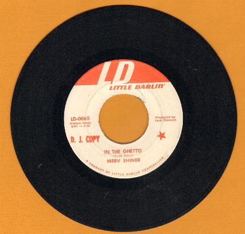 Shiner, Merv - In The Ghetto/El Bandido (DJ advance pressing) - EX8/ - 45 rpm Records