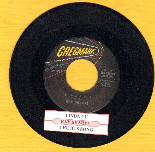 Sharpe, Ray - Linda Lu/The Bus Song (DJ advance pressing with juke box label) - EX8/ - 45 rpm Records
