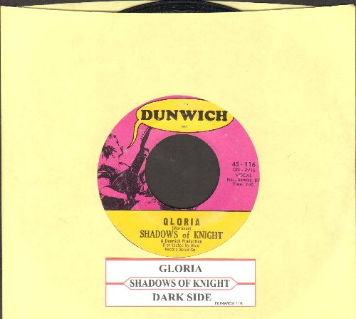 Shadows Of Knight - Gloria/Dark Side (with juke box label) - VG7/ - 45 rpm Records