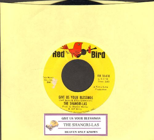 Shangri-Las - Give Us Your Blessings/Heaven Only Knows (with juke box label) - NM9/ - 45 rpm Records